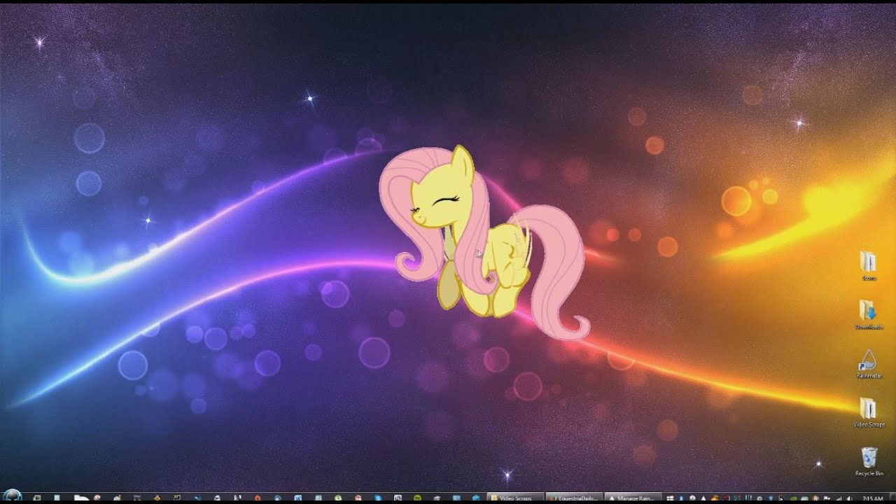 Fluttershy Pony Moving Animated Desktop Customization For Windows