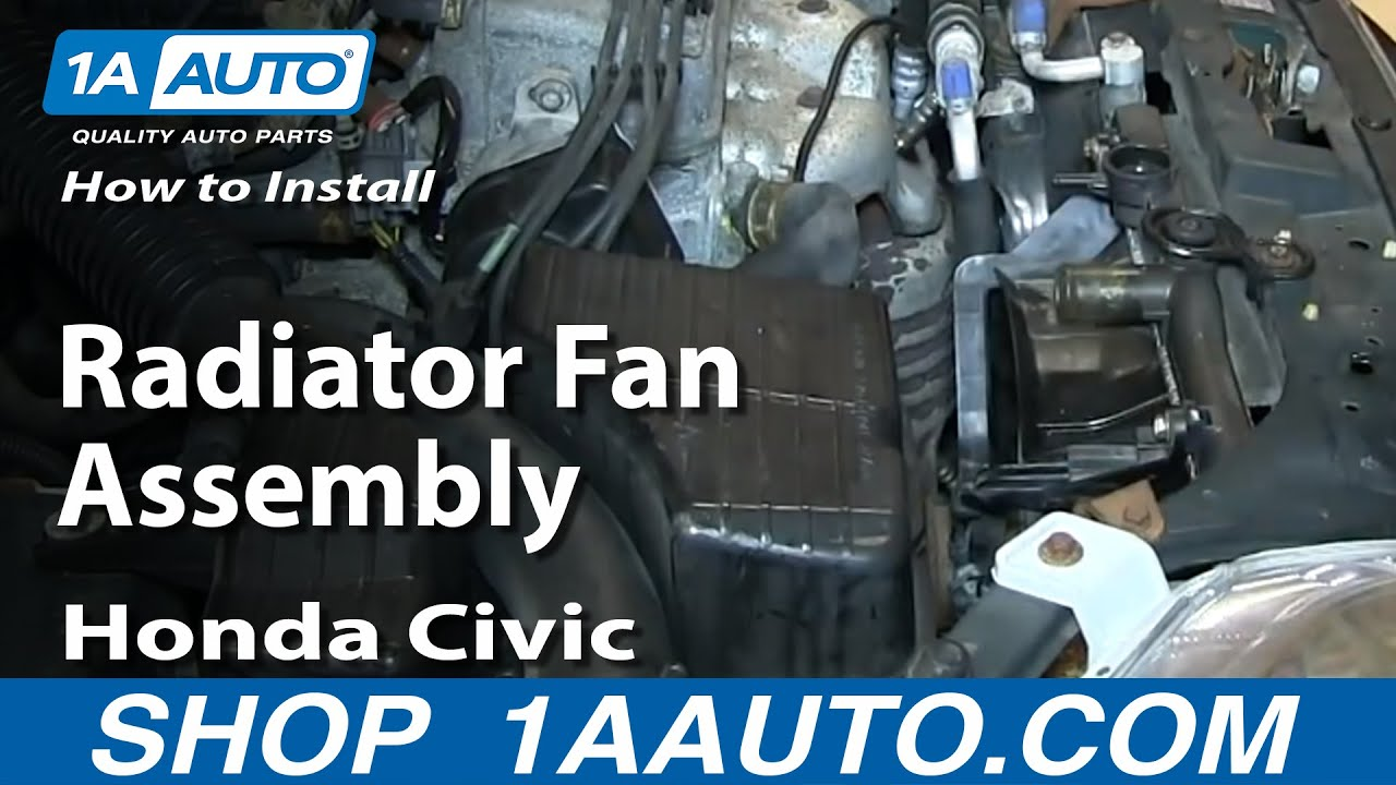 how to replace radiator cooling fan assembly 92 98 honda civic [ 1280 x 720 Pixel ]
