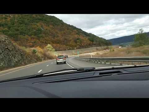 Driving I80 through Mountains of Pennsylvania