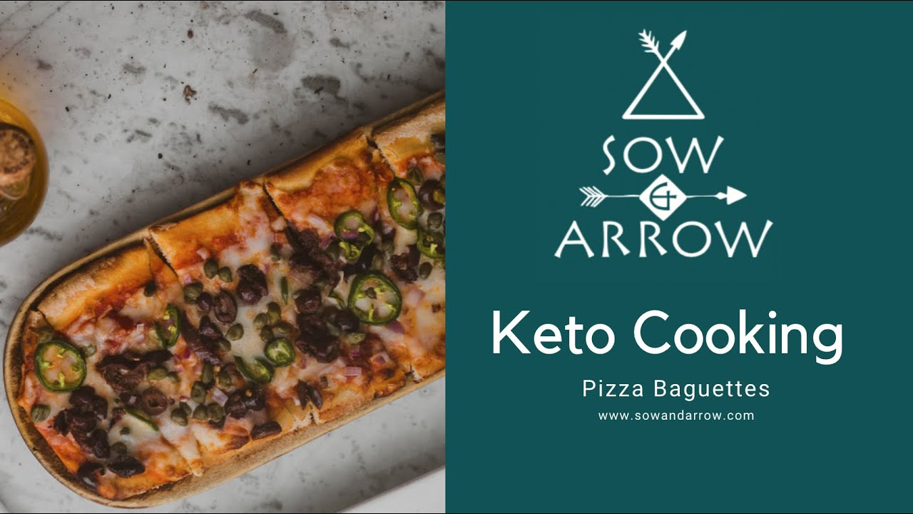 Keto Cooking: Pizza Baguettes