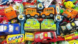 Back to School Bus Candy Filled Scooby-Doo Bus Minions Lollipops & A lot of Candy