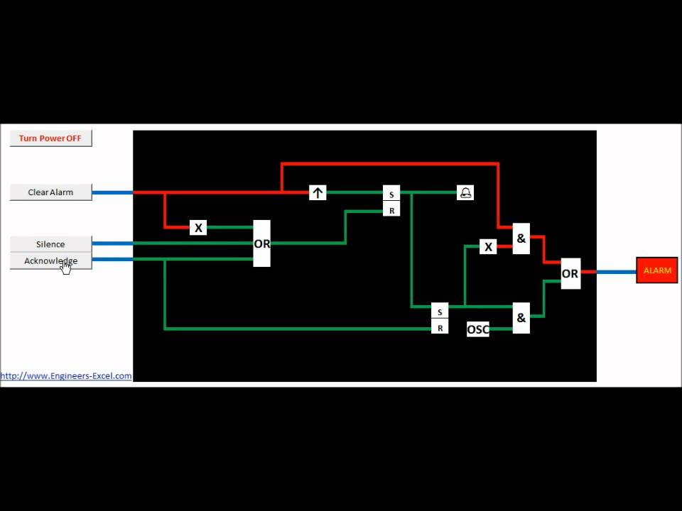 animated logic circuit in excel youtube rh youtube com