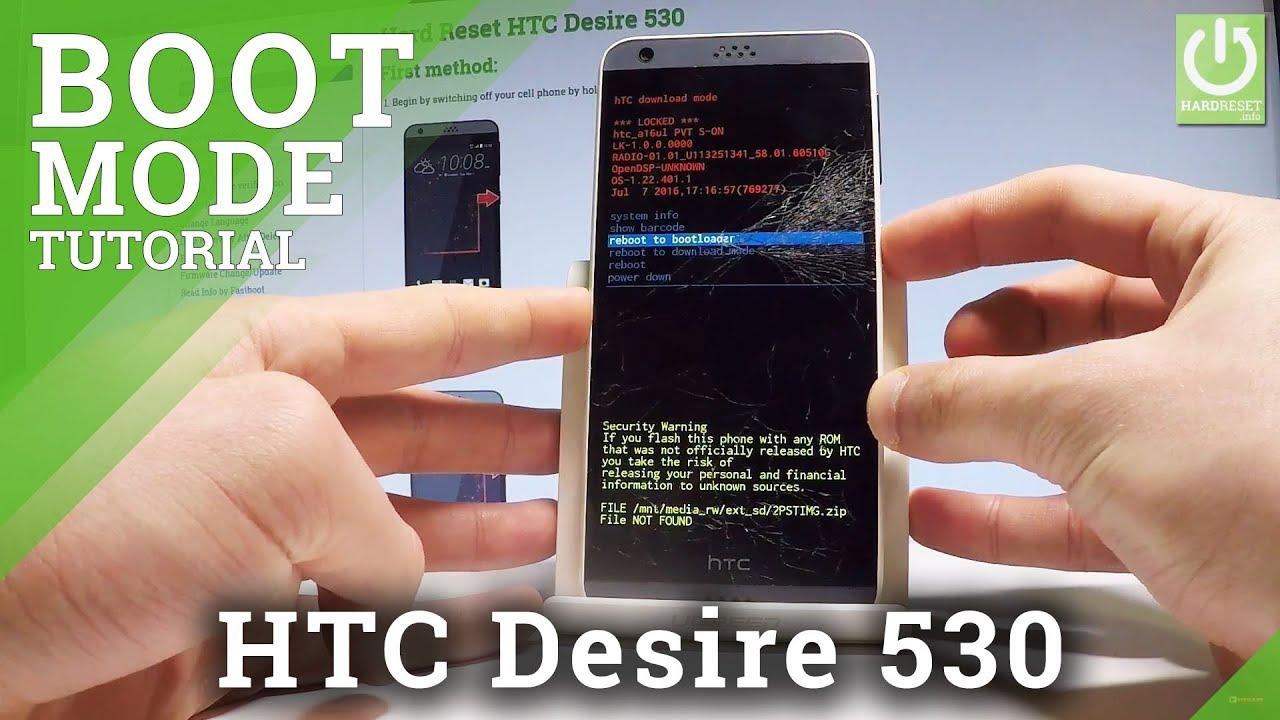 Bootloader Mode HTC Desire 530 - HardReset info