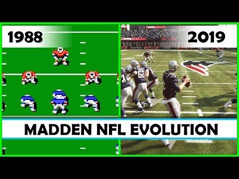 MADDEN NFL evolution [1988 - 2019]