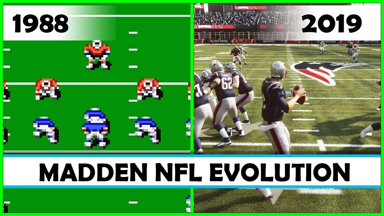 ec2375f2 MADDEN NFL evolution [1988 - 2019]
