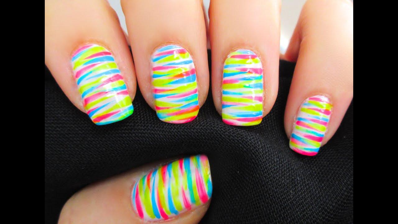 unhas Colorida com varias cores