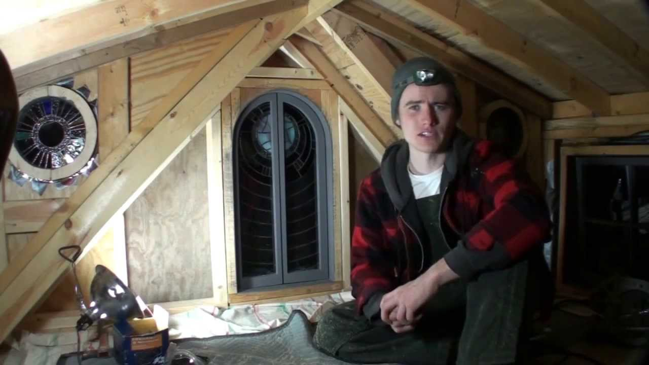 Tiny House Build Finishing The Gable End Wall YouTube