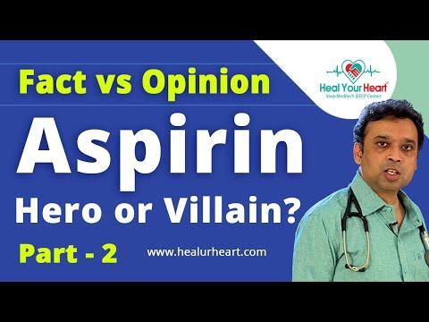 aspirin hero or villain aspirin fact vs opinion part 2
