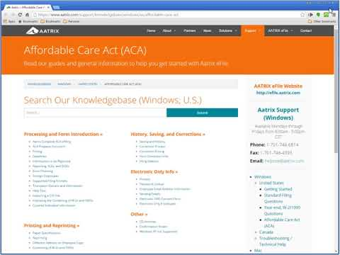 Sage 300 Construction and Real Estate: Affordable Care Act Generate ACA Forms 1095-C and 1094-C