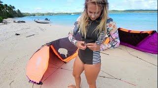 Ep. 14 Sailing & kite surfing a tropical island paradise - Fulaga, Fiji (Sail Surf ROAM)
