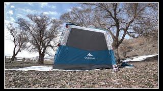 Decathlon Quechua Arpenaz Base M Gölgelik: Kurulum (Setup), Güneş, Rüzgar ve Kar Performansı