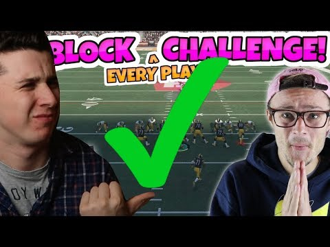 COMPLETING THE FIELD GOAL BLOCK EVERY PLAY CHALLENGE! Madden 18