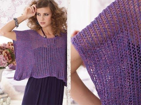 Vogue Knitting Stitch A Day : How to Knit the Faggot Stitch (English Style) Doovi