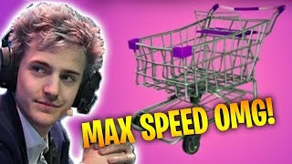 NINJA REACHES MAX SPEED WITH SHOPPING CART - Fortnite Battle Royale WTF & Funny Moments Episode. 157