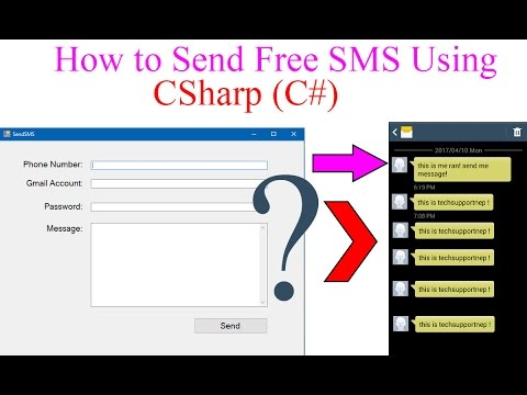 How to Send Free SMS Using C# NET? [With Source Code] | TechSupportNep