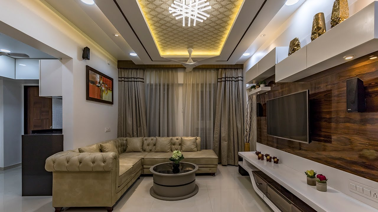 2 Bhk Apt Interior Design Cost Effective Design Simple And Beautiful Kams Designer Zone Pune Youtube