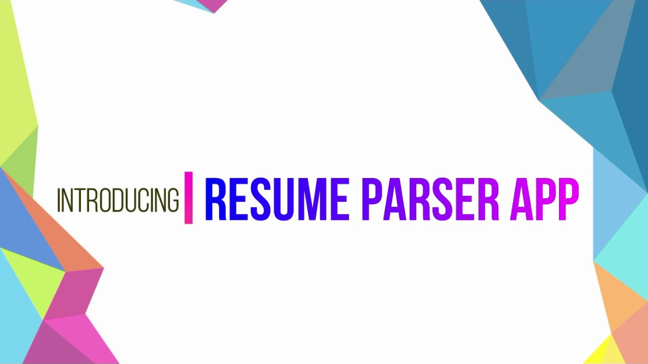 RESUME PARSER Python Django application
