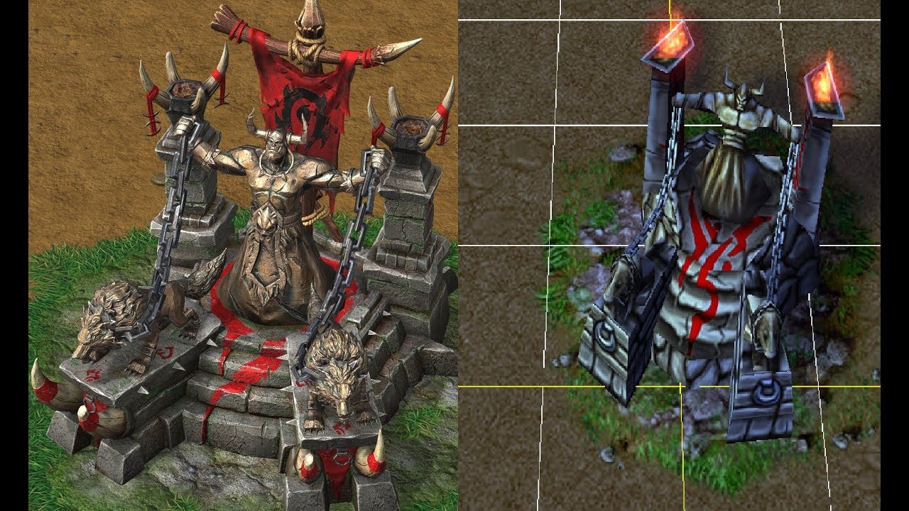 Comparing Orc Building Models From Warcraft 3 Reforged Youtube
