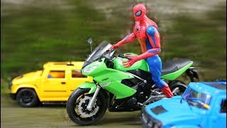 Motorcycle Bigbike Toys For Kids | Spiderman Rde On Motorcycle