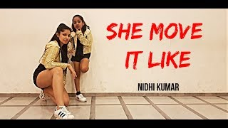 Baixar She Move It Like - Badshah | Dance Choreography | Nidhi Kumar ft. Vaidehi
