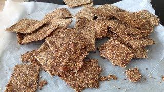 Low Carb, Gluten Free Crackers - Glutenfri Knækbrød