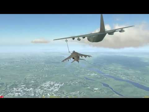 DCS World - Av-8B Harrier - Air to air refuelling (new HOTAS)