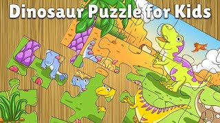 Dinosaur jigsaw puzzles for kids and toddlers - free