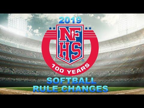 2019 NFHS Softball Rules Changes