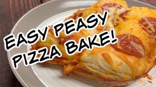 5 Ingredient Easy Peasy Pizza Bake