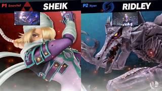 Super Smash Bros. Ultimate - Sheik vs Ridley - HD Gameplay