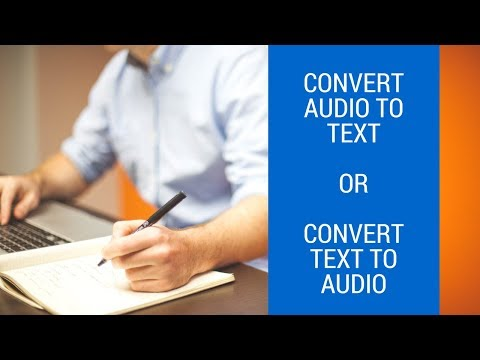 Audio To Text Conversion APRIL 2018 Super Easy - How To Convert Audio To Text (mp3 to text)