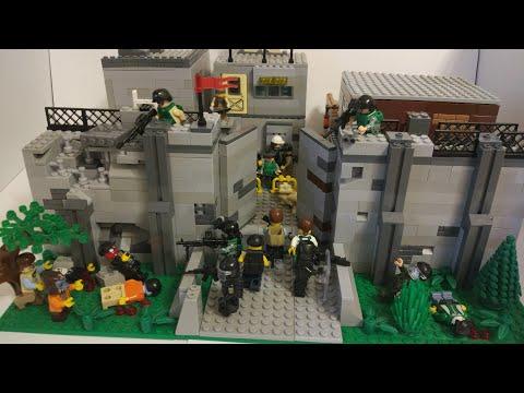 "Лего самоделка зомби апокалипсис #19 ""база выживших"""