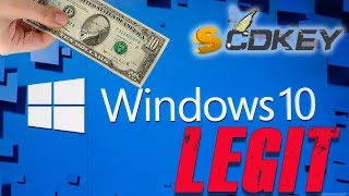 How I Get Windows 10 FOR ONLY $10 | SCDKey | Guide |