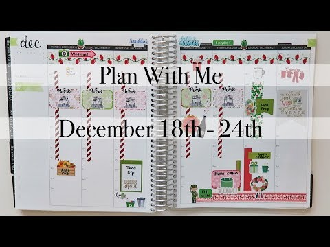 Plan With Me | December 18th - 24th | Erin Condren Hourly