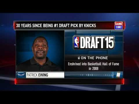 Patrick Ewing Interview - Ewing on Draft | GameTime | 2015 NBA Draft