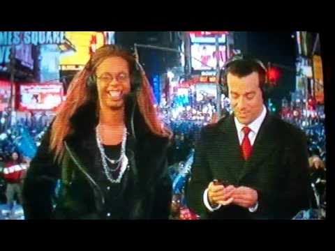 Antoine Dodson New Years Eve live with Carson Daly on NBC NY Time Square