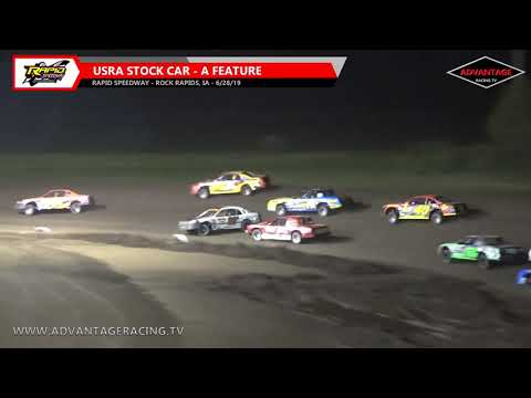 Stock Car Feature - Rapid Speedway - 6/28/19