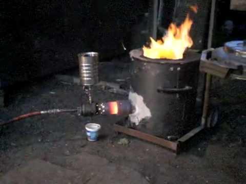 Babington Burner Foundry Waste Oil Youtube