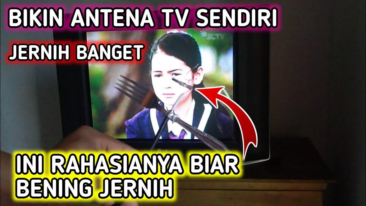 BARU TAU !! CARA MEMBUAT ANTENA TV JERNIH PAKAI INI  ... JERNIH BANGET