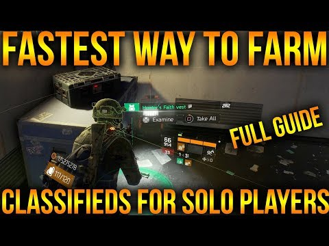 BEST WAY TO FARM CLASSIFIED GEAR | RESISTANCE FARM GUIDE FOR SOLO PLAYERS | THE DIVISION 1.8