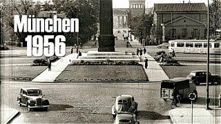 München 1956 - Autofahrt - Verkehr - Traffic - early dashcam - Munich 1950´s