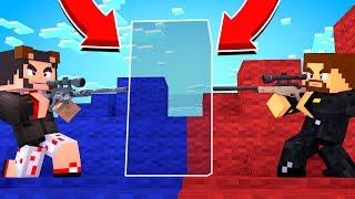 ВОЙНА СНАЙПЕРОВ НА КАРТЕ БЕЗ ТЕКСТУР В МАЙНКРАФТЕ - ДУЭЛЬ В Minecraft #7