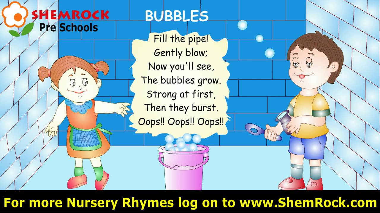 Nursery Rhymes Bubbles Songs With Lyrics Youtube