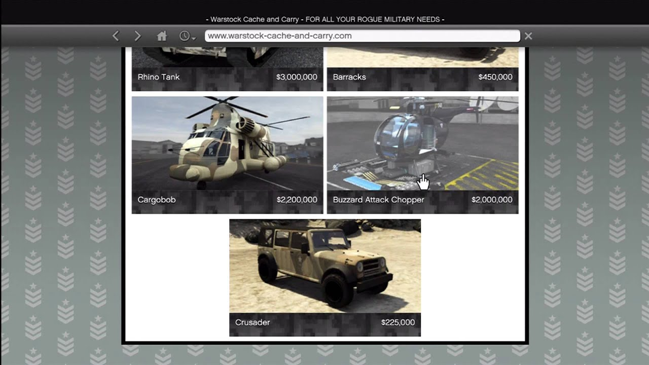 Gta 5 how to buy all warstock army military vehicles for Fenetre sale gta 5