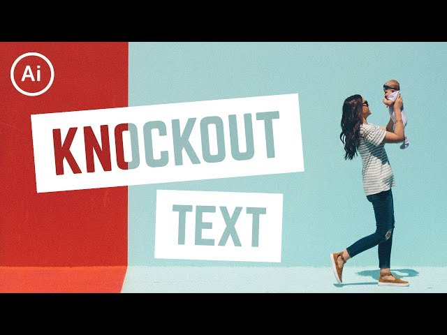 How to Knockout Text | Illustrator Tutorial