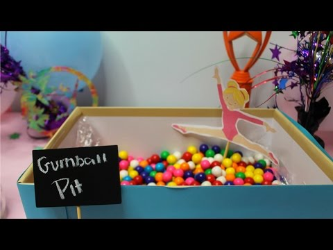 GYMNASTICS THEMED PARTY: Decor, Activities, and Treats! | TheCheernastics2