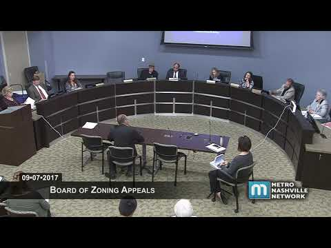09/07/17 Board of Zoning Appeals Meeting