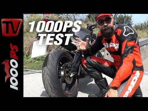 1000PS Test - Pirelli Diablo Rosso III auf Street Triple RS