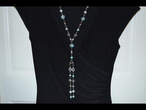 Jewelry Tutorial: Episode 17: Aquarius Necklace