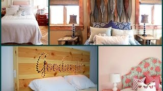 DIY Bed Headboard Ideas – Creative Ideas for Home Decoration - Furniture Makeover Ideas
